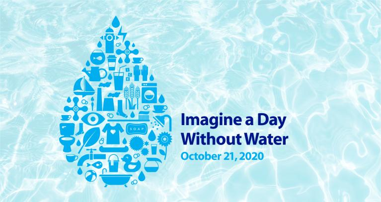 Imagine a day with water - water background